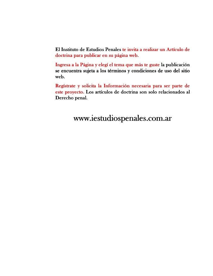 Derecho Penal Artículos www.iestudiospenales.com.ar