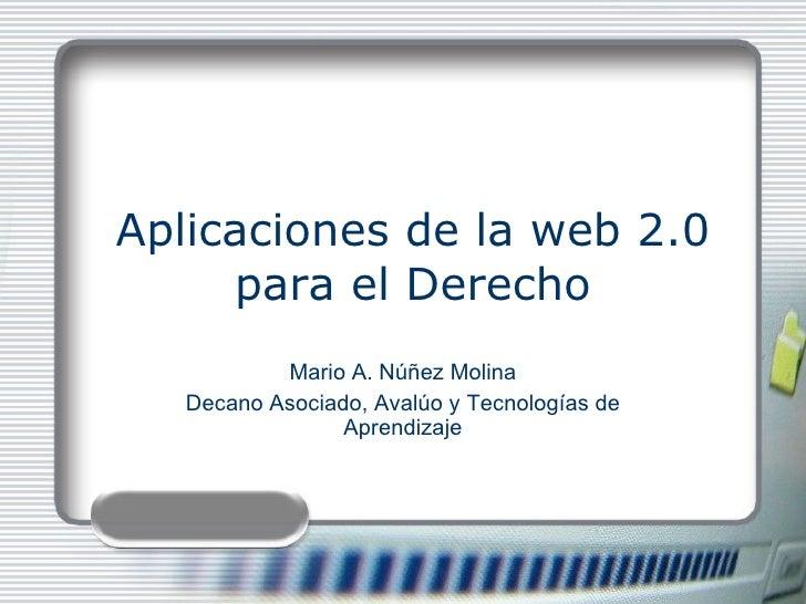 Aplicaciones de la web 2.0 para el  Derecho