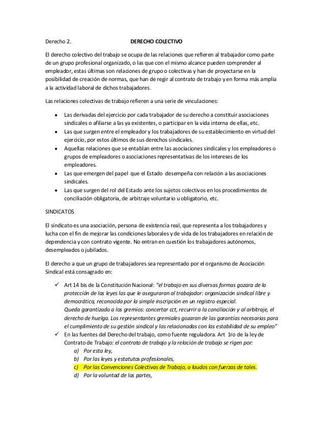 Derecho 2. DERECHO COLECTIVOEl derecho colectivo del trabajo se ocupa de las relaciones que refieren al trabajador como pa...