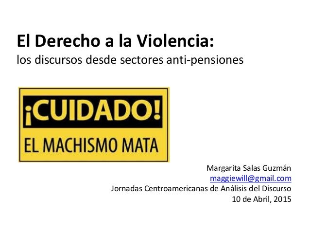 discursos sobre la violencia: