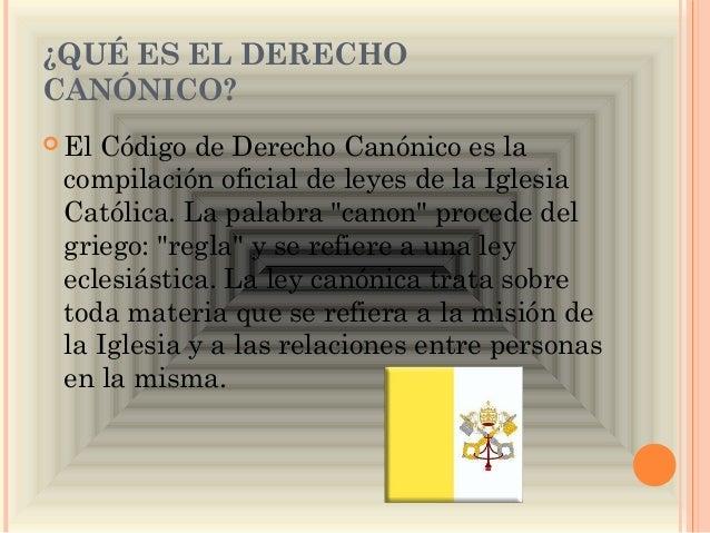 Matrimonio Catolico Derecho Canonico : Derecho canónico