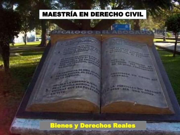 MAESTRÍA EN DERECHO CIVIL<br />Bienes y Derechos Reales<br />