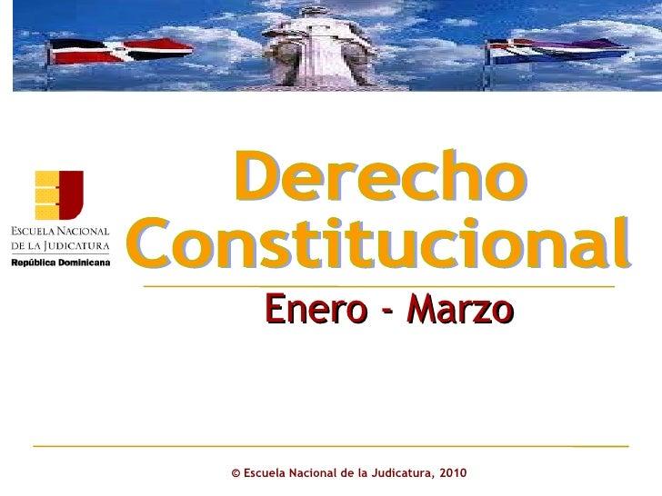 Derecho constitucional 2011.