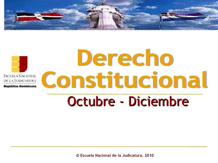 Derecho constitucional octubre   diciembre