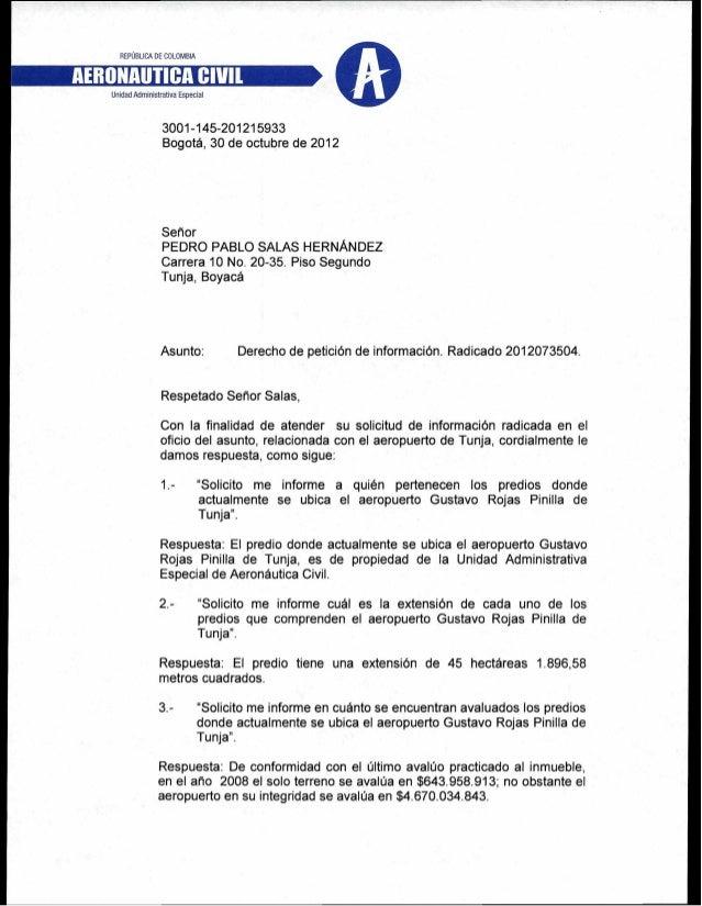 Derecho de petición  aerocivil