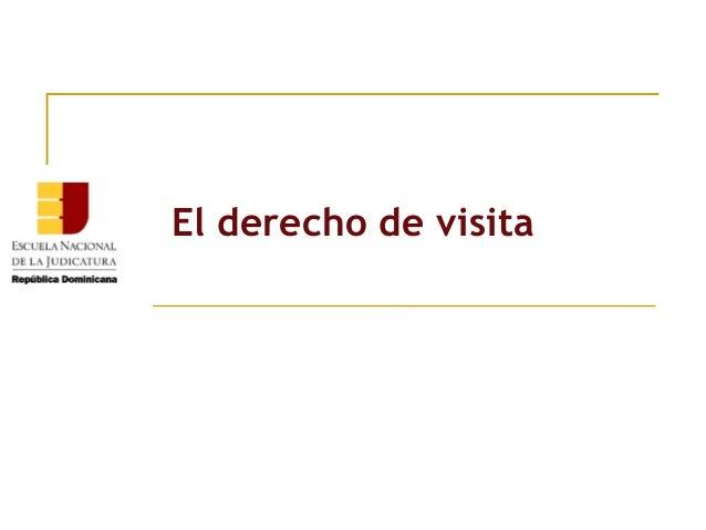 El derecho de visita