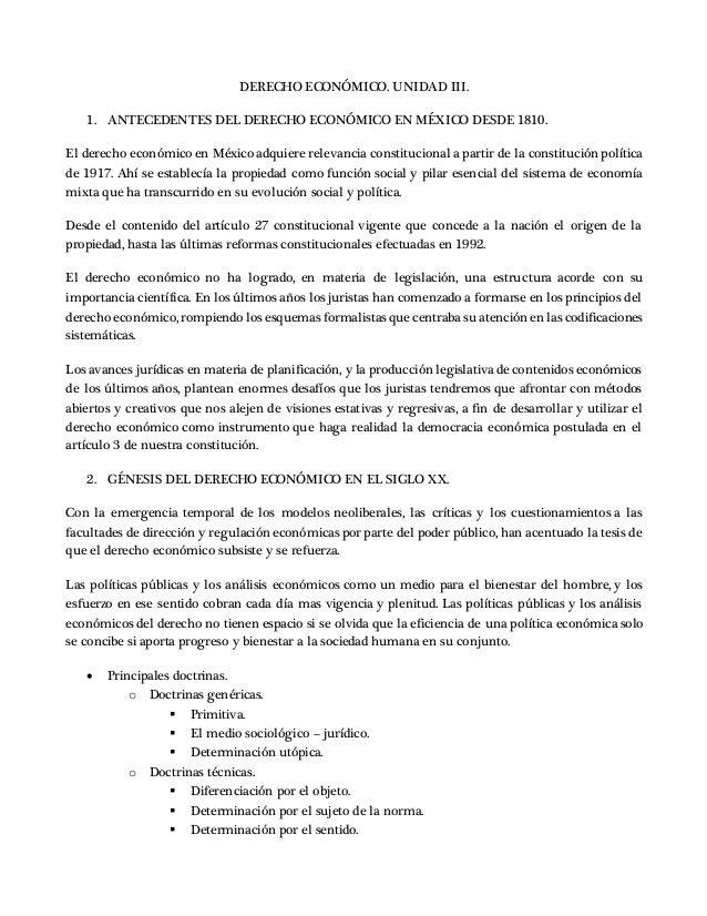 DERECHO ECONÓMICO. UNIDAD III. 1. ANTECEDENTES DEL DERECHO ECONÓMICO EN MÉXICO DESDE 1810. El derecho económico en México ...