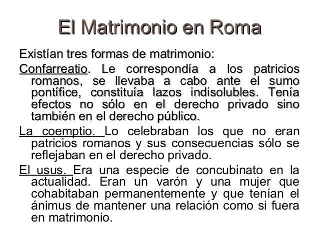 Analisis Del Matrimonio Romano Y El Actual : Derecho familiar conceptos generales actualizado