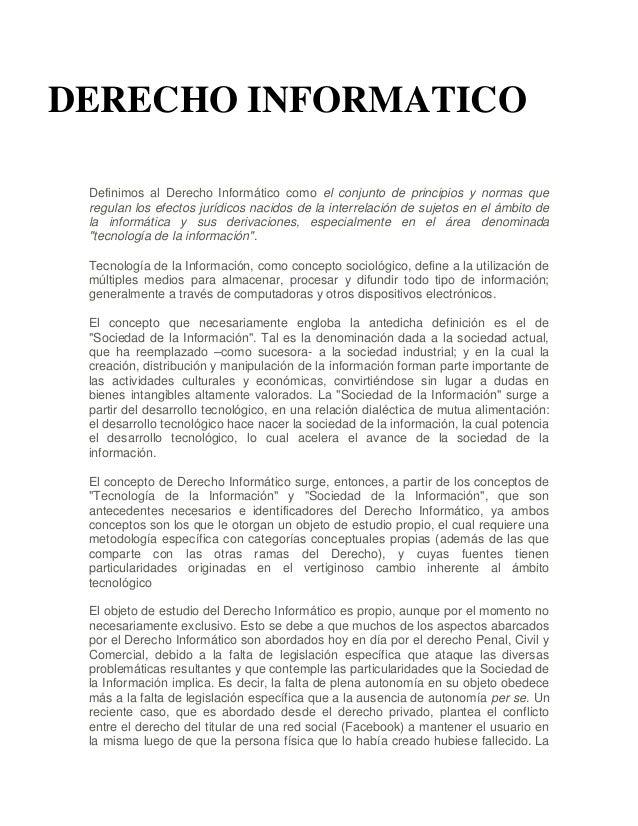 Derecho informatico nidia