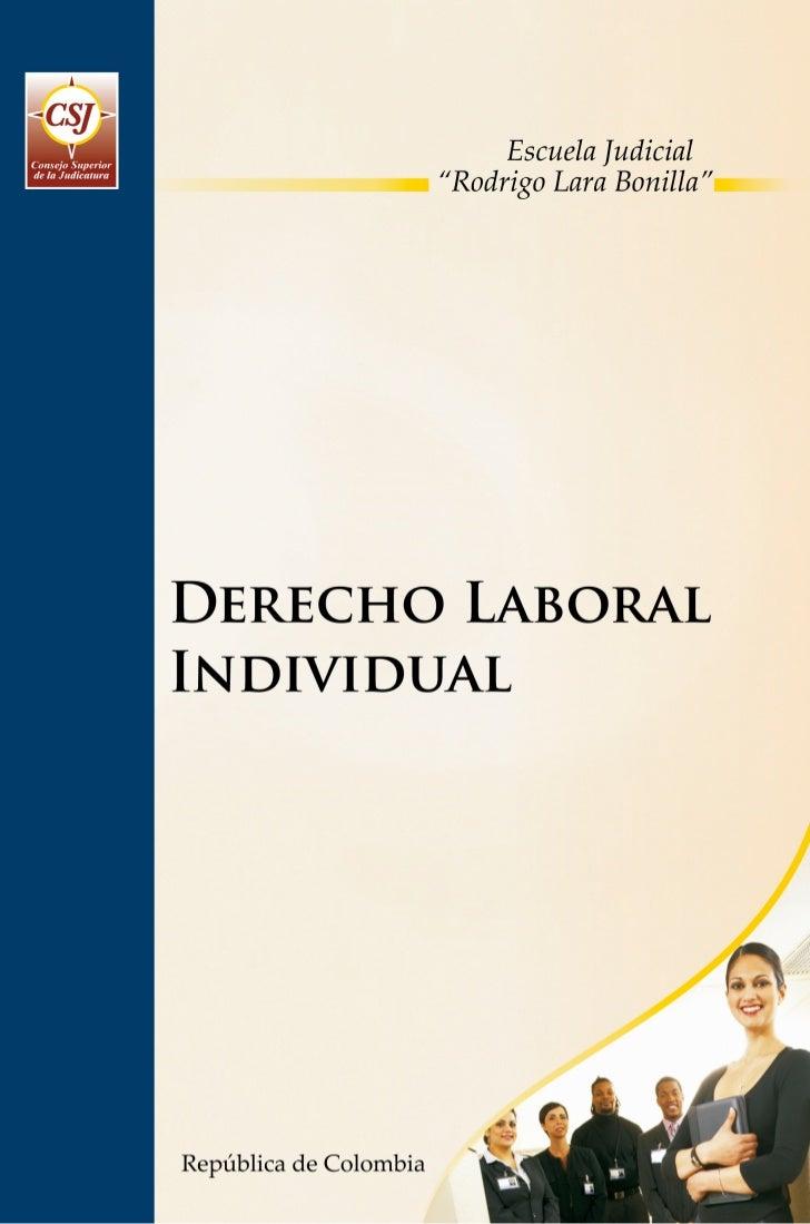 PROGRAMA DE FORMACIÓN JUDICIAL ESPECIALIZADA PARA EL ÁREA LABORAL Y DE LA SEGURIDAD SOCIAL         DERECHO LABORAL INDIVID...
