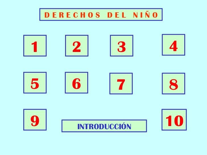 DERECHOS DEL NIÑO1       2       3       45       6       7       89       INTRODUCCIÓN    10