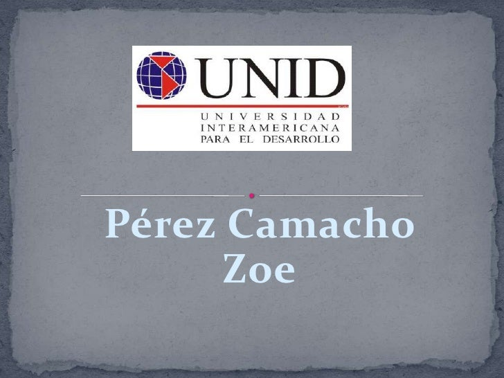 Pérez Camacho Zoe<br />