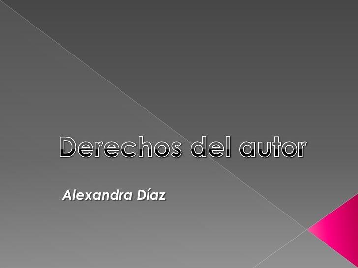 Alexandra Díaz