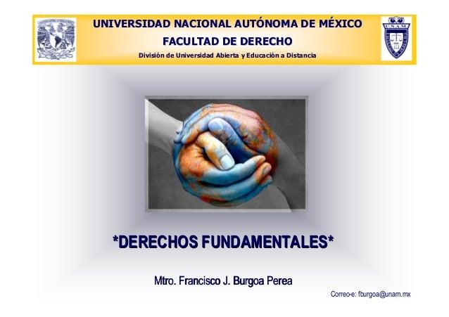 UNIVERSIDAD NACIONAL AUTUNIVERSIDAD NACIONAL AUTÓÓNOMA DE MNOMA DE MÉÉXICOXICO FACULTAD DE DERECHOFACULTAD DE DERECHO Divi...