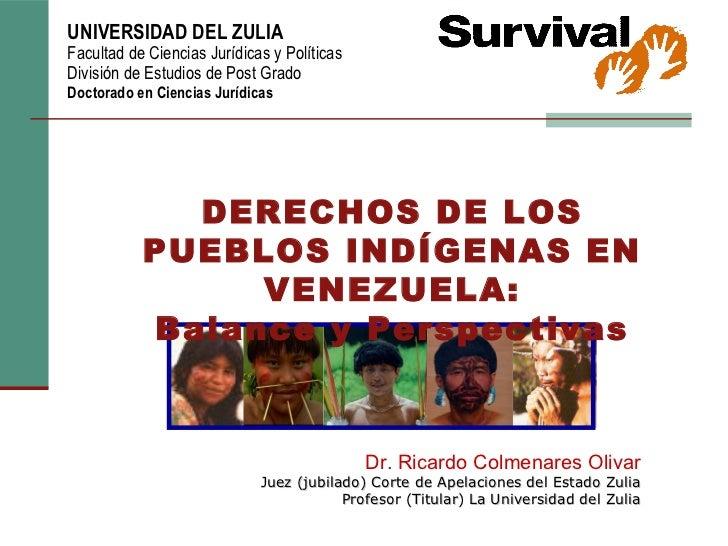 Derechos pueblos indigenas Yukpa