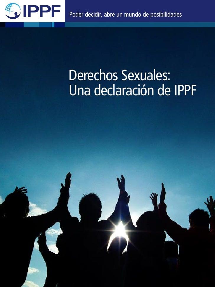 Derechos Sexuales Una Declaración de IPPF