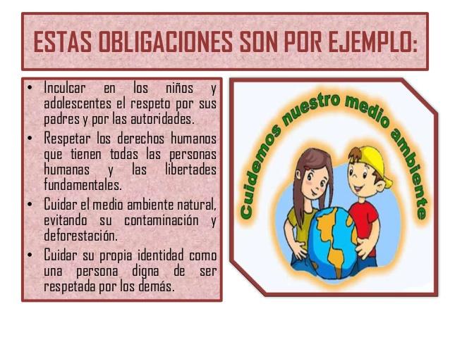las obligaciones de los ninos: