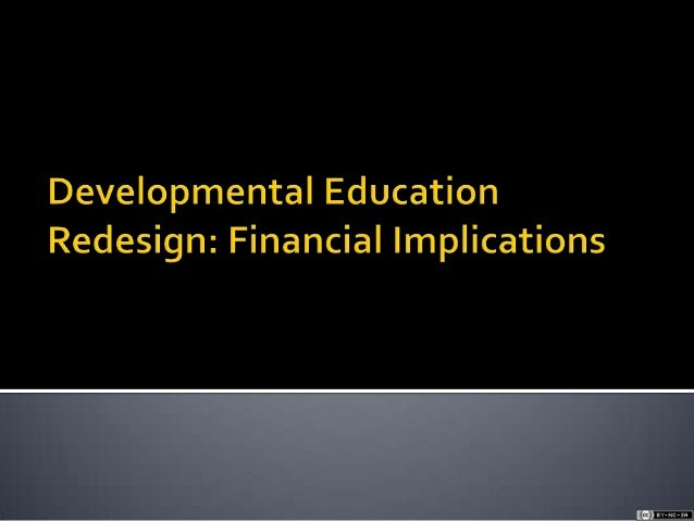 Developmental Education CCCS Redesign Cost Projections Sept 2012