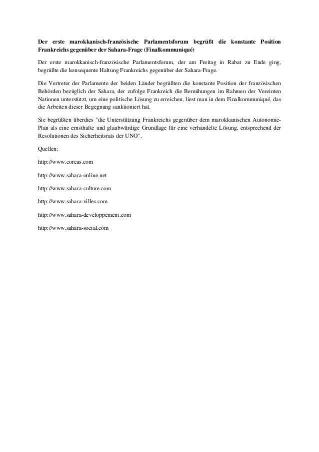 Der erste marokkanisch-französische Parlamentsforum begrüßt die konstante Position Frankreichs gegenüber der Sahara-Frage ...