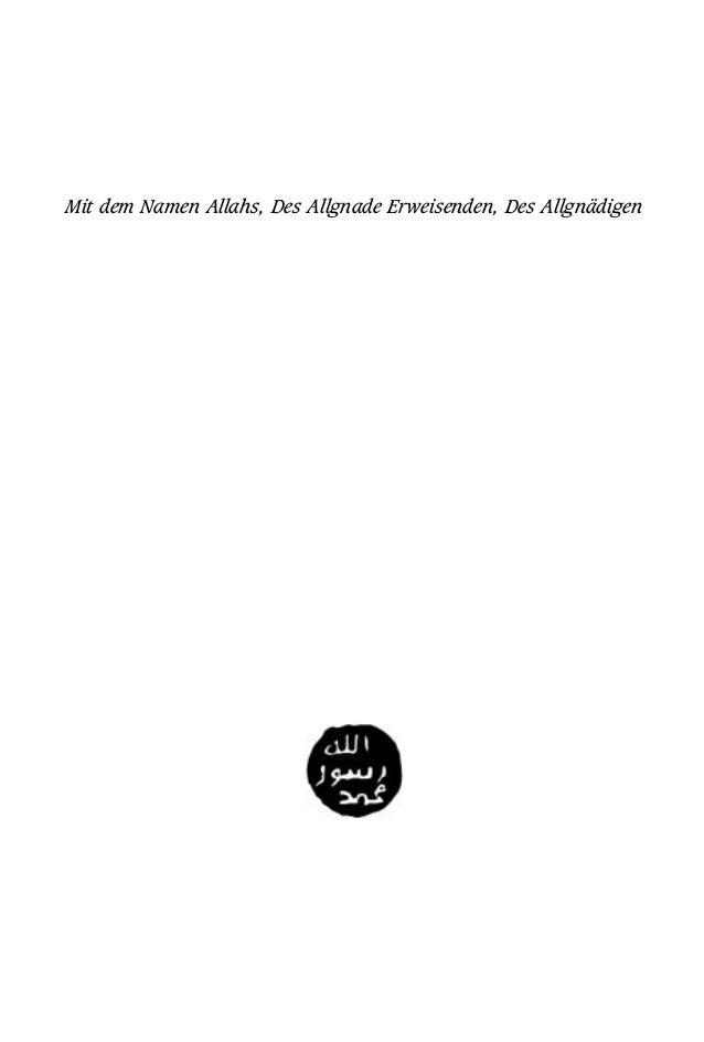 Mit dem Namen Allahs, Des Allgnade Erweisenden, Des Allgnädigen