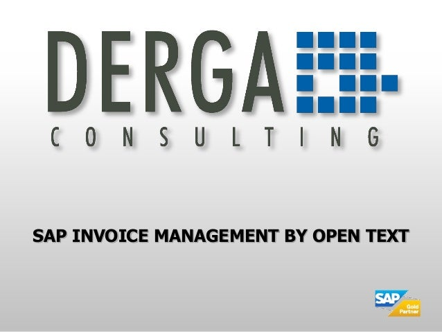 SAP INVOICE MANAGEMENT BY OPEN TEXT