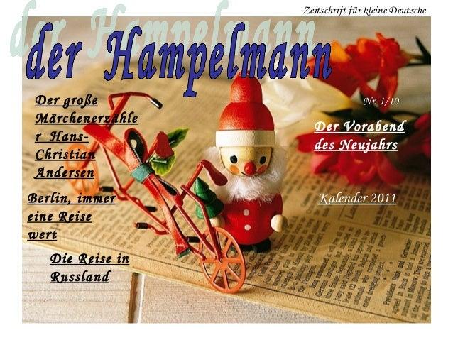 Zeitschrift für kleine Deutsche Der große                       Nr. 1/10 Märchenerzähle                    Der Vorabend r ...