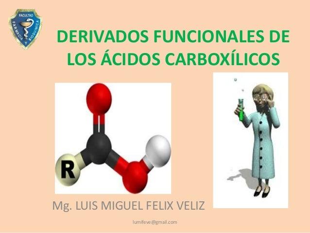 Los Acidos Los ácidos Carboxílicosmg