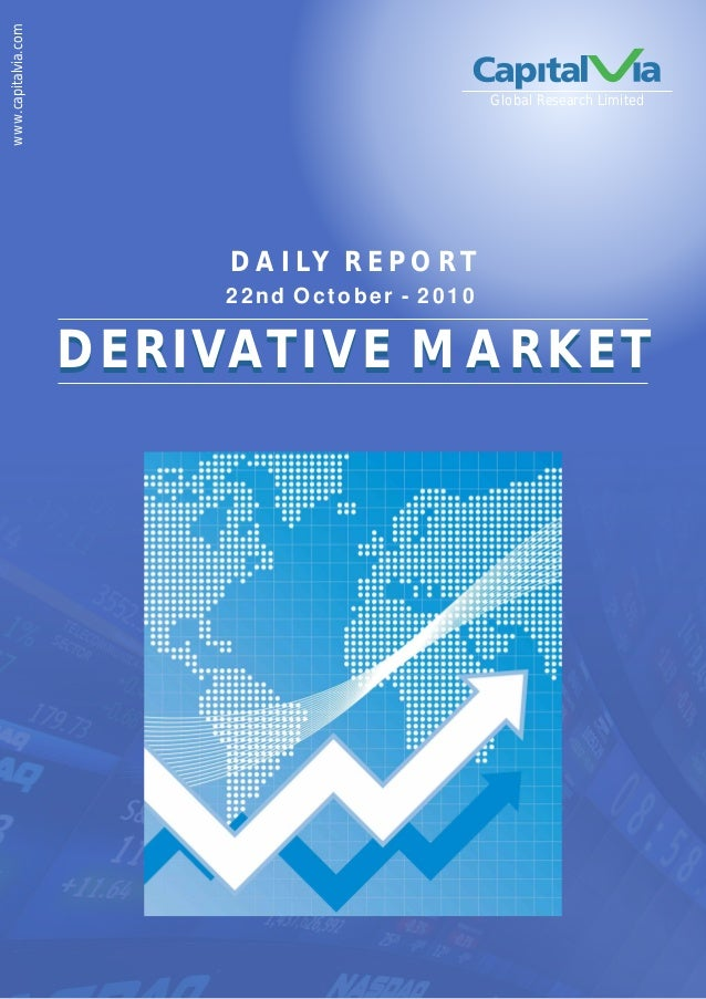 www.capitalvia.com Global Research Limited 22nd October - 2010 D A I LY R E P O R T DERIVATIVE MARKETDERIVATIVE MARKET