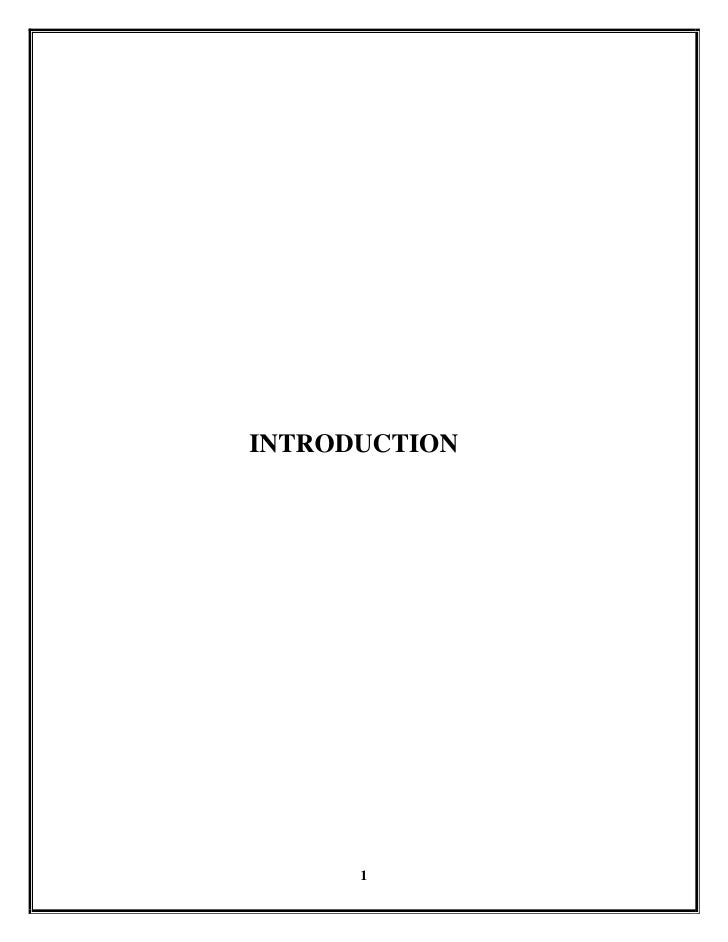 <br />                         INTRODUCTION<br />1.1 A STUDY ON DERIVATIVES:<br />The only stock excha...