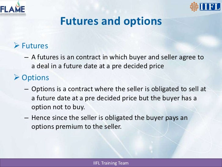 Basics of futures and options trading