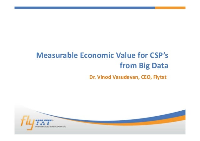 Deriving economic value for CSPs with Big Data [read-only]