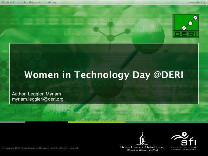 Women In Technology Day