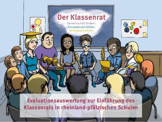 Evaluationsauswertung zur Einführung des Klassenrats in rheinland-pfälzischen Schulen