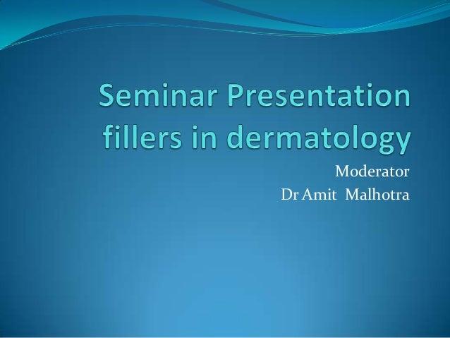 Moderator Dr Amit Malhotra
