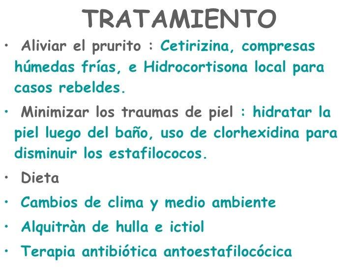 La literatura por atopicheskomu a la dermatitis a los niños
