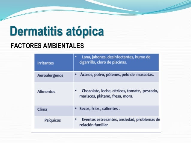 Dermatitis at pica smaci for Dermatitis atopica piscina cloro