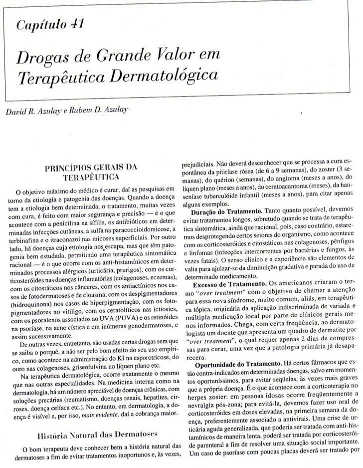 Dermatologia   drogas de grande valor terapeutico em dermatologia