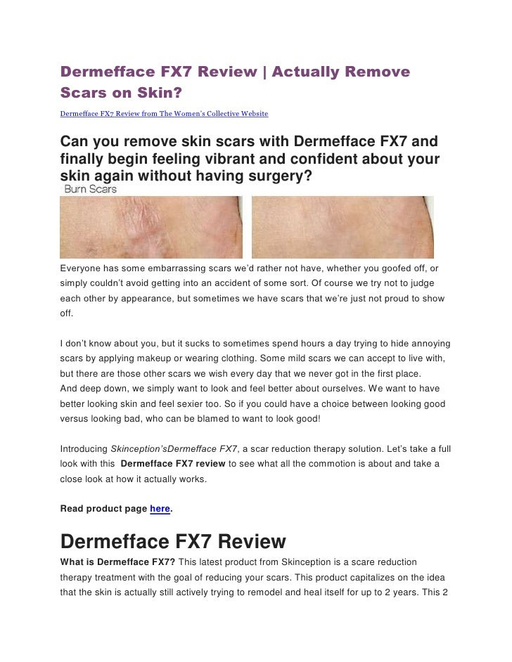 Dermefface FX7 Review | Actually RemoveScars on Skin?Dermefface FX7 Review from The Women's Collective WebsiteCan you remo...