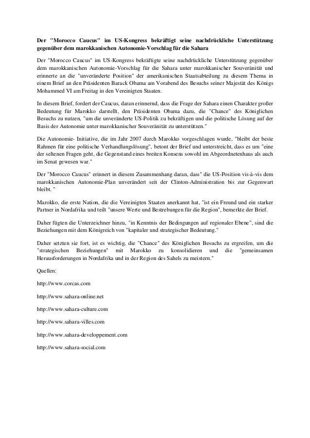 """Der """"Morocco Caucus"""" im US-Kongress bekräftigt seine nachdrückliche Unterstützung gegenüber dem marokkanischen Autonomie-V..."""