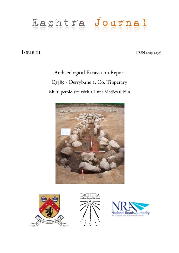 Archaeological Report - Derrybane 1, Co. Tipperary (Ireland)