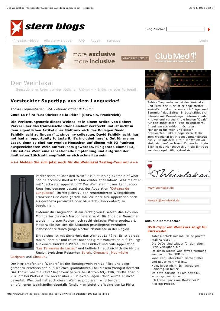 Der Weinlakai | Versteckter Supertipp aus dem Languedoc! - stern.de                                                   29/0...