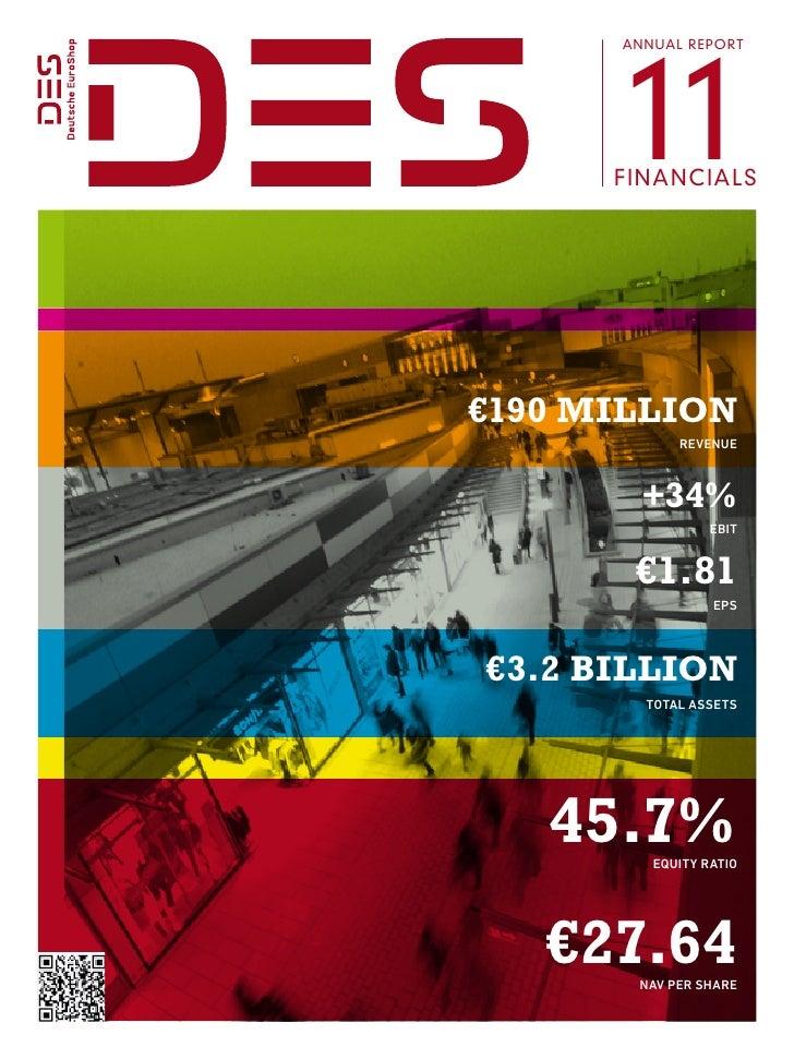 Deutsche EuroShop   Annual Report 2011   Financials