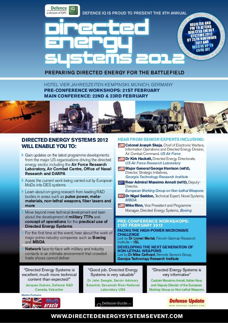 Directed Energy Systems 2012