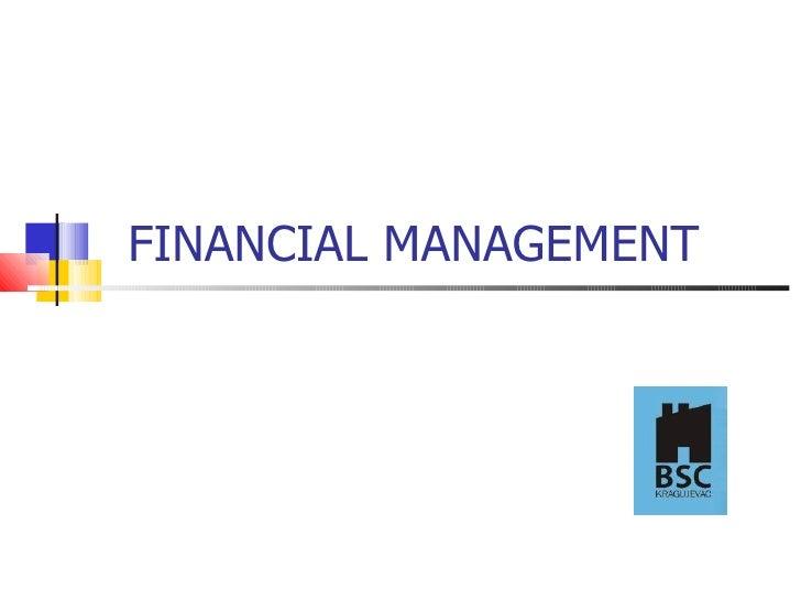 Desa Petrovic - Financial management