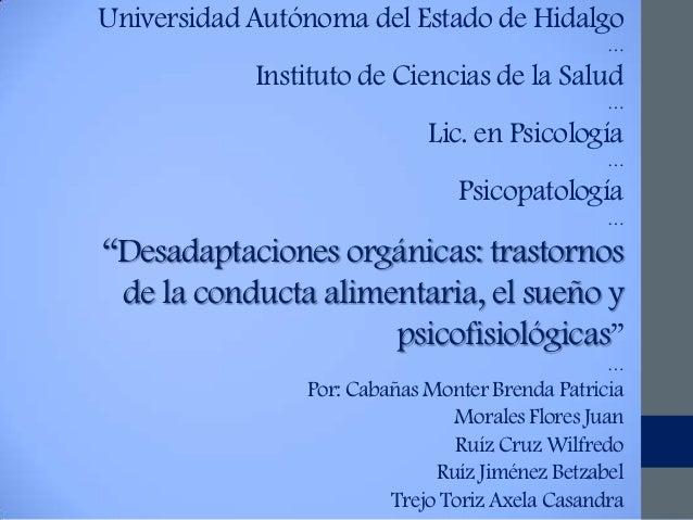 Universidad Autónoma del Estado de Hidalgo                                                 …            Instituto de Cienc...