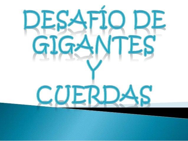 """ Películas """"Desafío de Gigantes"""" y """"Cuerdas""""  Daniela Pereira Meneses  9-3  Esp: Ana Mercedes Ramírez Ochoa  Colegio ..."""