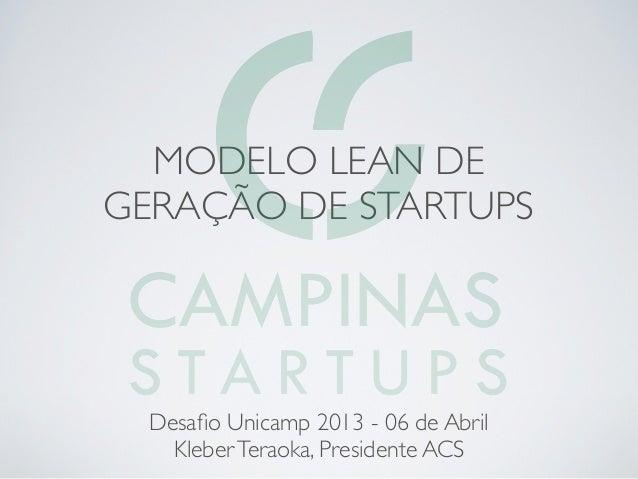 Modelo ACS de geração de startups