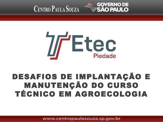 Desafios da Criação de Cursos de Agroecologia em Piedade - Neide Gutiyama
