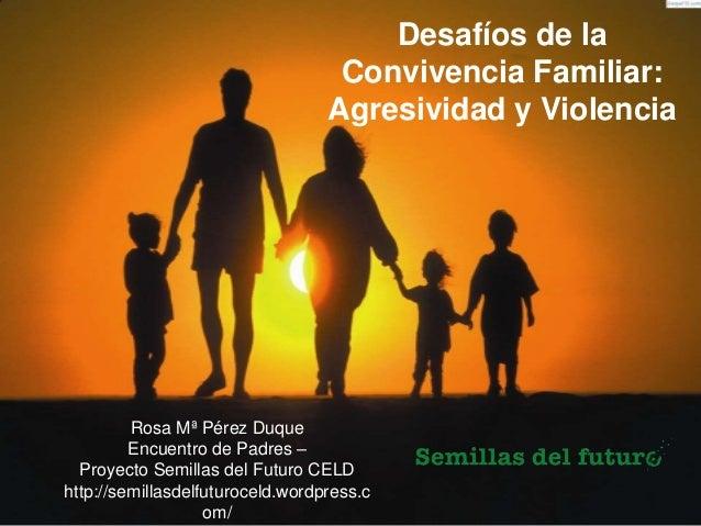 Desafíos de la Convivencia Familiar: Agresividad y Violencia Rosa Mª Pérez Duque Encuentro de Padres – Proyecto Semillas d...