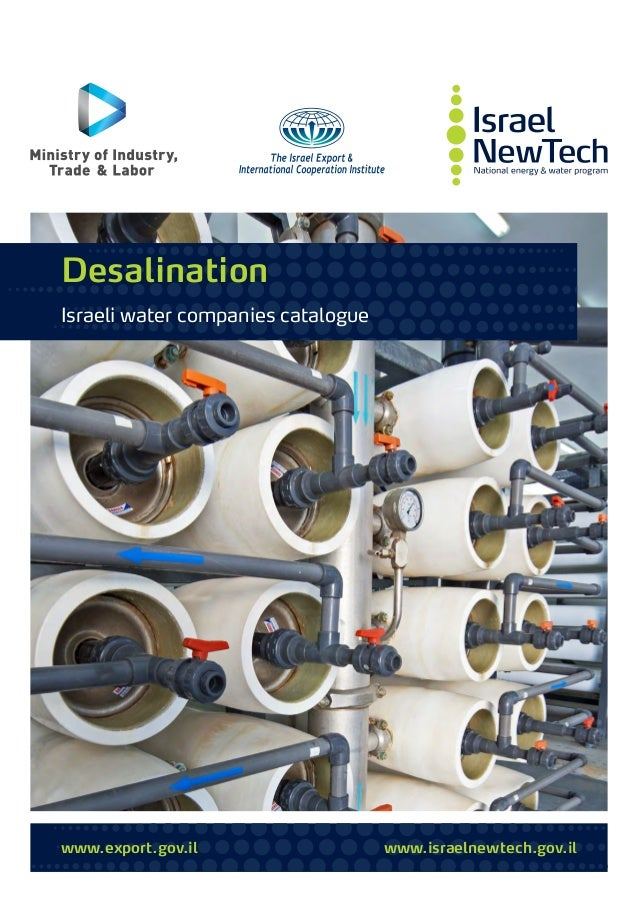 www.export.gov.il www.israelnewtech.gov.il Desalination Israeli water companies catalogue